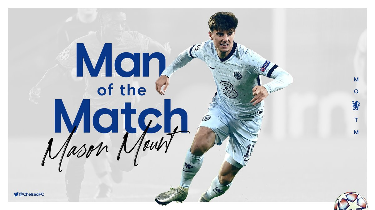 Last night's MOTM, as voted for by you!  👏 @MasonMount_10 👏