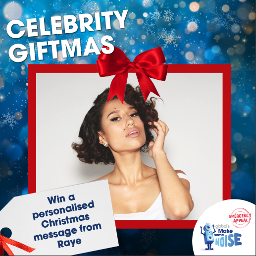 less than a week to go for you to #WIN a personalised video message from me 🎁  enter here:   i'm happy to be part of Global's @makenoise #CelebrityGiftmas, helping those hit hardest by coronavirus across the uk.