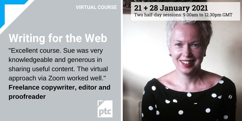 Places for this popular course are being snapped up. If you want to learn how to make the most impact with your web content, join #digital expert @SueDavis68 for her next course in January. Book here: ow.ly/CFAB50CunOL