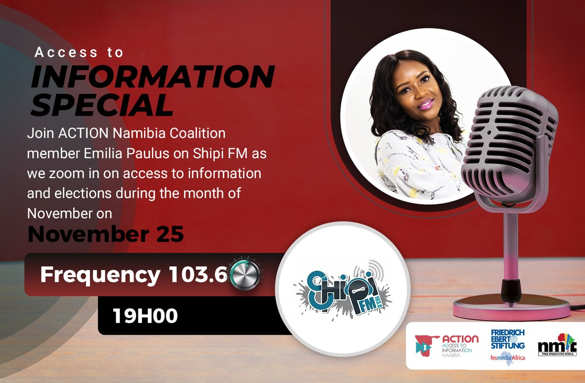 In terms of elections, quality access to information will help voters & citizens at large vote for the right leaders that will move the country to #Vision2030- @EmiliaPaulus_01  Tune in on @shipifm for the full interview. #IWillVote #NamVotes2020   @fesmediaAfrica @ECN_Namibia