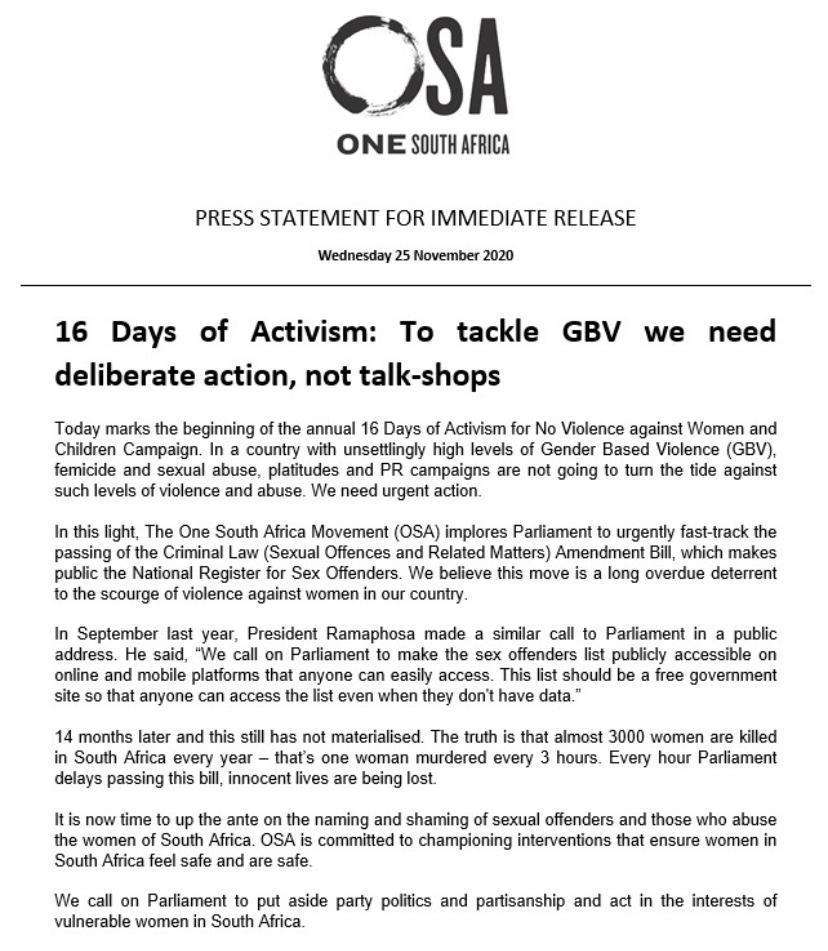 OneSA_Movement photo