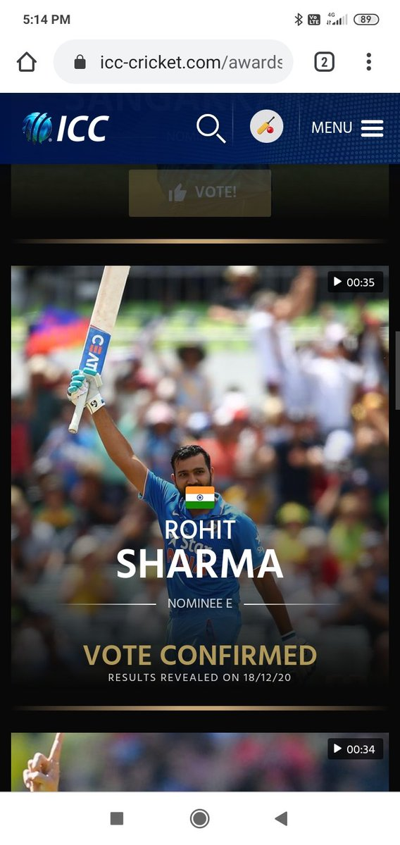 ICC Awards of the Decade 🏆 Voting ☑ Done   ODI Player of the Decade - Rohit Test Player of the Decade - Smith T20I Player of the Decade - Rohit Spirit of the game award - MS Dhoni  Go and Caste your vote fast ☑  https://t.co/9Ck4jxwEEE https://t.co/2doiNi3WAu