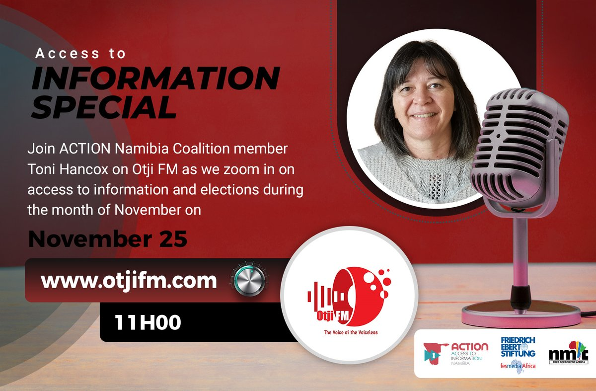 The only way you are going to exercise your right to vote depends on your access to information because without that, you will not be able to make a responsible political decision – Toni Hancox.  #IWillVote #NamVotes2020  @fesmediaAfrica @LACNamibia  @MICTNamibia @ECN_Namibia