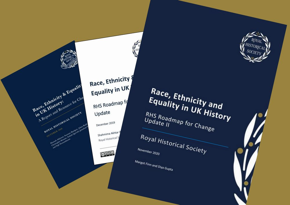 Today we publish Roadmap Update II, the second annual update to our Race, Ethnicity and Equality in UK History report (2018). Thank you to everyone who contributed! Report co-author, Dr Diya Gupta, introduces Roadmap II on the RHS blog: blog.royalhistsoc.org/2020/11/25/rhs…