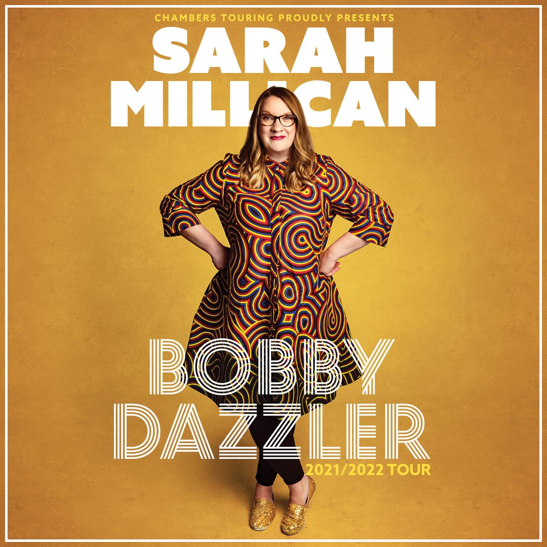 NEW // The hilarious @SarahMillican75 is back on tour with a Bobby Dazzler of a new stand-up show. Tickets on sale 10am Friday: https://t.co/qOfzPLbItb https://t.co/U0nOaqwaZQ