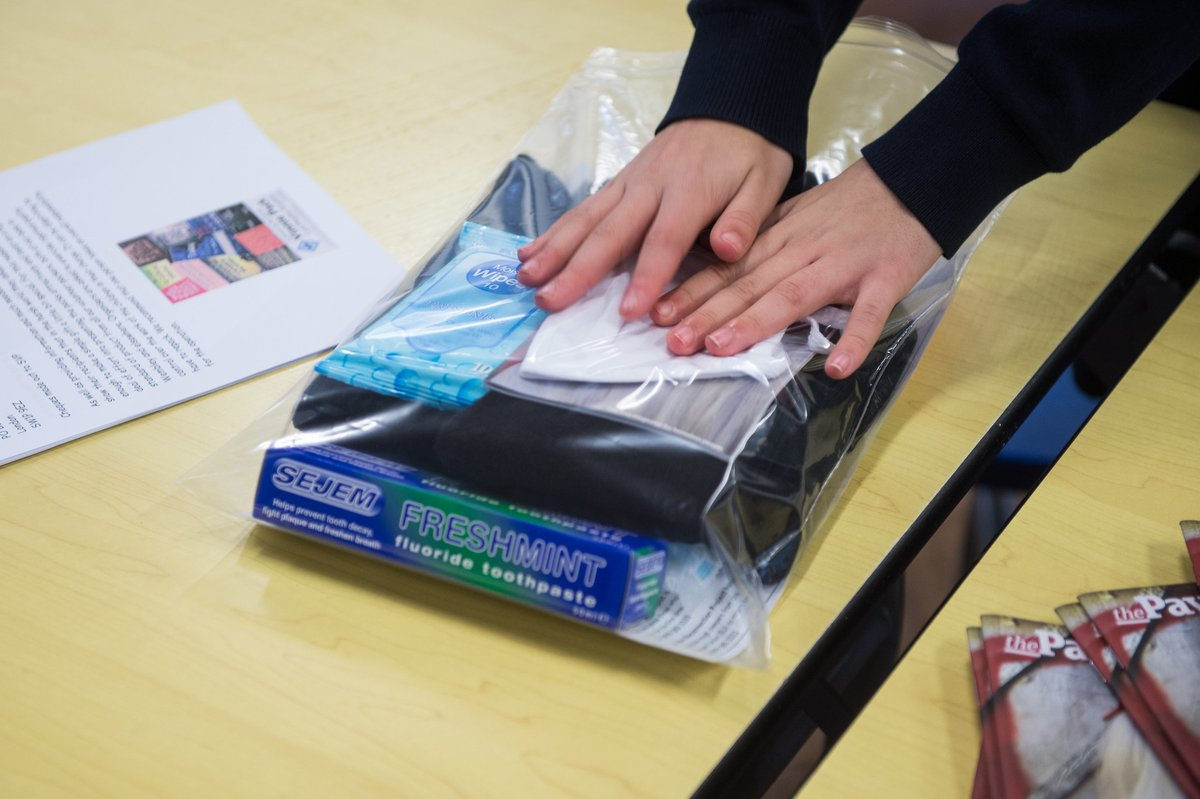 In the lead up to #worlddayofthepoor, children from 14 schools in the diocese made 'Vinnie packs' for the homeless. The packs of essential items were distributed to those in need by @CaritasWestm and @SVPEnglandWales.  Read more:   📷 Mazur/@catholicEW