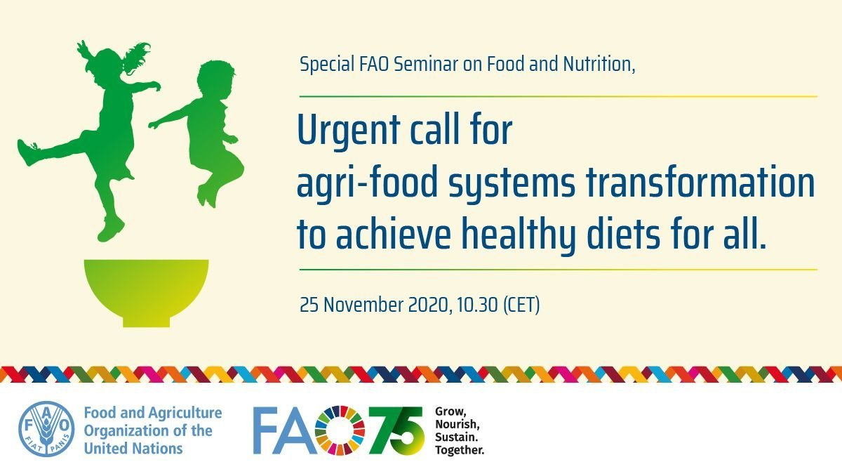 Tune in at 2pm CET to our afternoon session on food and nutrition.  An urgent call for agri-#foodsystems transformation to achieve #healthydiets for all.  🔴Follow live 👉