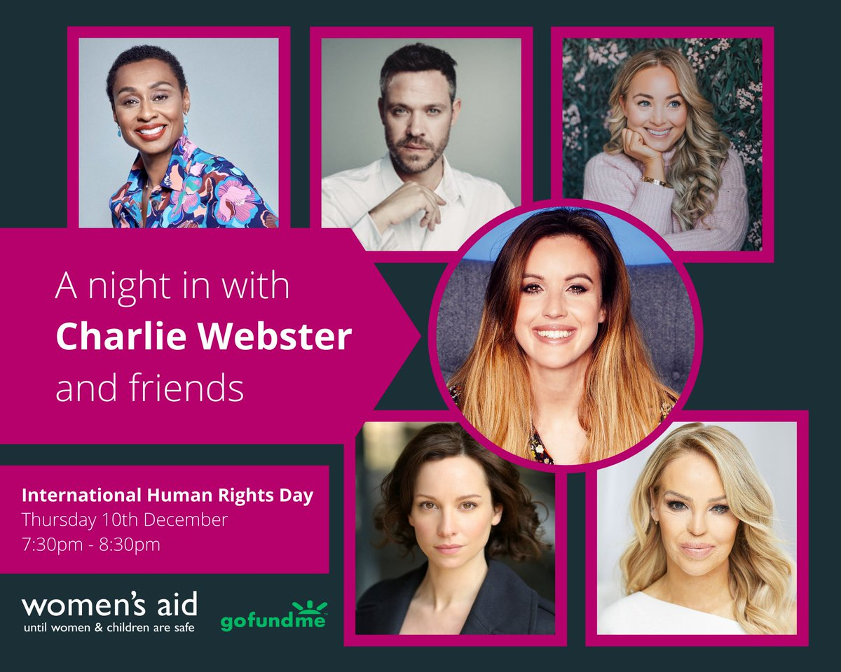 Free 10th December 730pm? Join us for a sparkling night in chatting all things from using your voice, surviving, rebuilding, healthy relationships, mental health &more, all to raise money for @womensaid it's free donations would be massively appreciated👇 gofundme.com/a-night-in-wit…