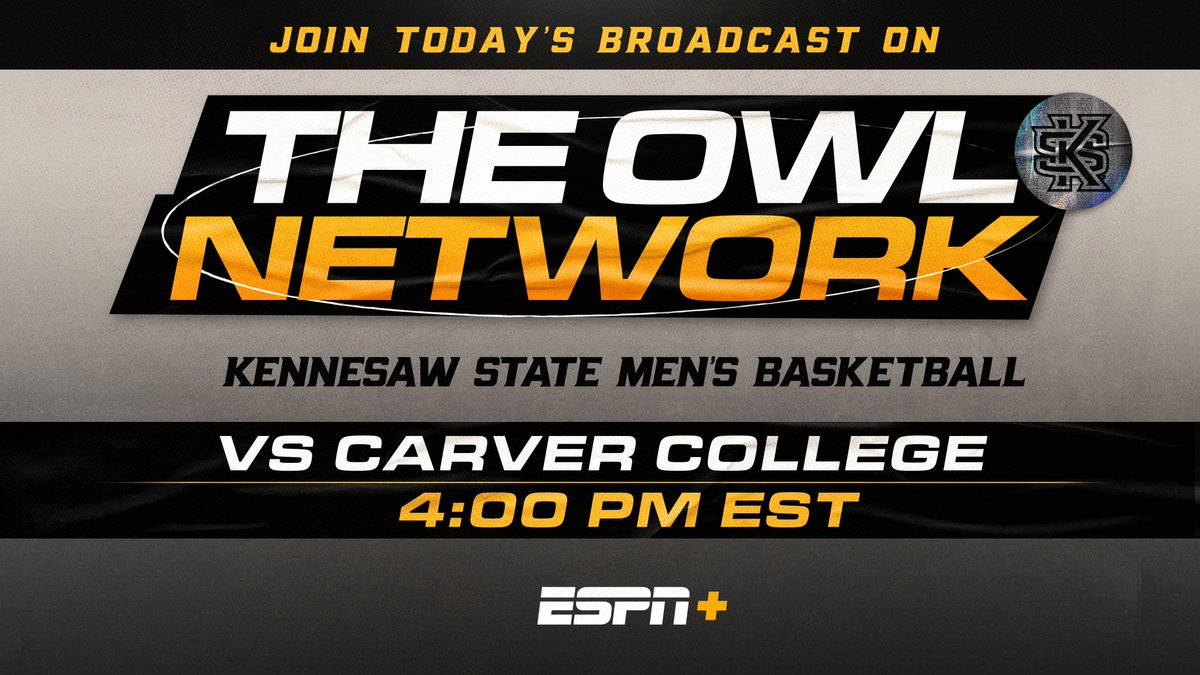 Watch the 🦉 ball out ‼  Catch @KSUOWLSMBB against Carver on #ESPNPlus today at 4️⃣.   Watch: https://t.co/KIpju4tTOX https://t.co/xB0KbLf6BE