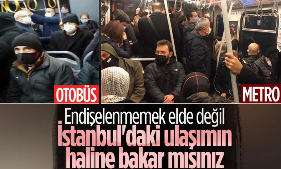 İBB Başkanı, İstanbulluların bu halini göstermemek için her gün görevi olmayan konularda polemik oluşturmaya çalışıyor.  Halbuki kendisi bu pandemide polemikler yerine İstanbul'un toplu ulaşımıyla ilgilenseydi, bugün şu görüntüler oluşmazdı.  Vakit laf değil, iş yapma vakti iş...
