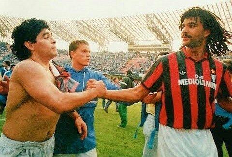 Il più grande rivale 🔟  #Maradona #NapoliMilan #diegomaradona
