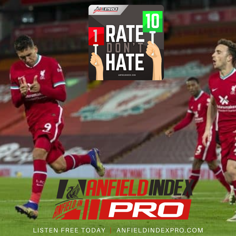 #RateDontHate: #LIVLEI  @The_KYLN @guydrinkel & @TadPredictable rate the players from the win against Leicester  🎧 Listen for FREE via @AnfieldIndexPro 7 Day Trial