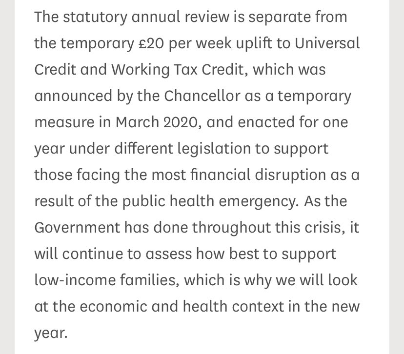 To be reviewed in New Year as per @theresecoffey https://t.co/Nin7MkfmuQ