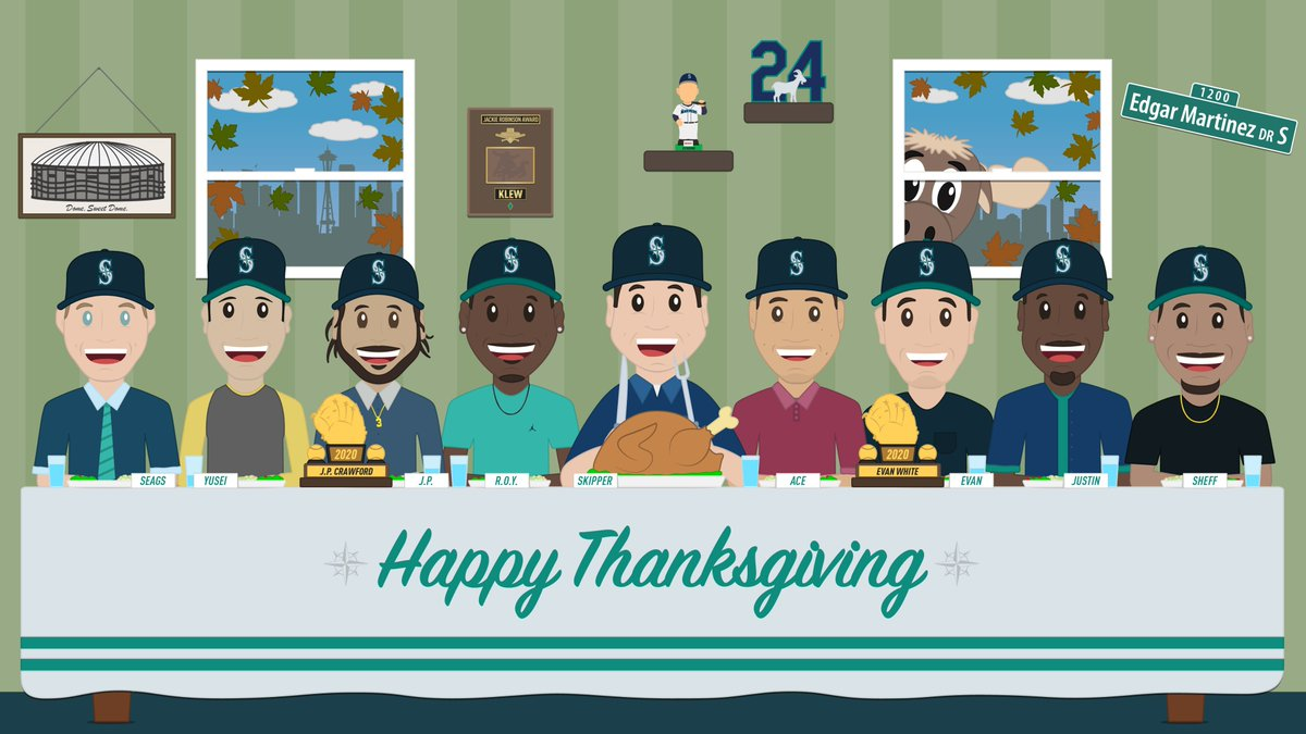 Keeping our distance this year, but we imagine Thanksgiving with the squad would've looked a little like this... Wishing you a happy, healthy and safe #Thanksgiving!
