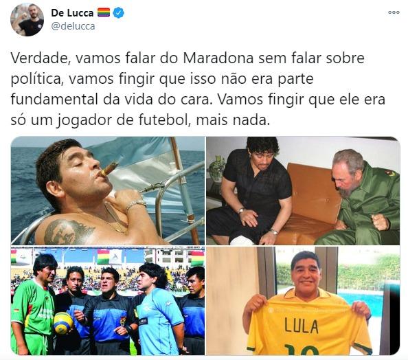 D. Diego Armando Maradona, um gigante