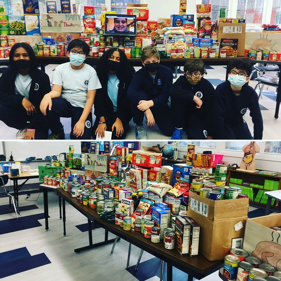 """test Twitter Media - Amazing job Mr. Blake's 7th grade and the entire @AssumptionFFLD community for supporting @bptrescuemission and Blessed Sacrament Food Pantry with their annual Food Drive. """"For in giving, you shall receive."""" @Diobpt @BptSup #giveback #service #Wednesdayvibe #Thanksgiving2020 https://t.co/NYyl8ZC8pX"""