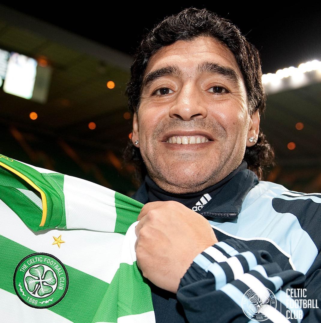 A true football icon.  Rest in peace, Diego Maradona. Legend. 🍀