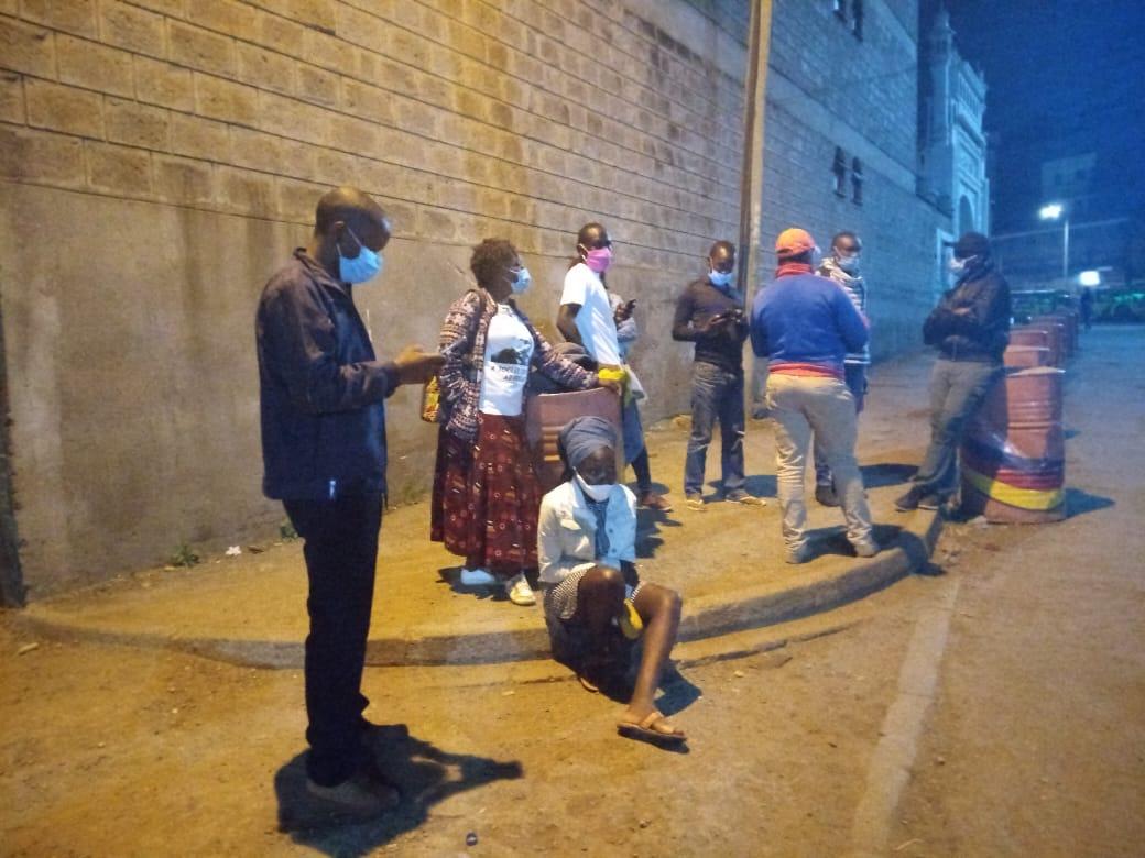 Members of various justice centers arrested and detained on trumped up charges at Kamukunji police station. #StopPoliceExtortion #COVID19  @UhaiWetu @MissingVoicesKE  @MathareSJustice @DandoraJustice @IPOA_KE @AmnestyKenya @IJMKenya @Pawa254 @gacheke2011 @happyolal @CSWGlobal