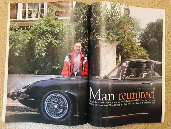 Can it really be 15 years since George Best passed away? Yes, it can be & it is: he died on 25 November 2005. I met him twice & reunited him with an old E-Type Jag of his for this @CandSCmagazine feature. A petrolhead as well as a football genius, he owned 6 E-Types in all. #RIP https://t.co/js7EpKdd9d