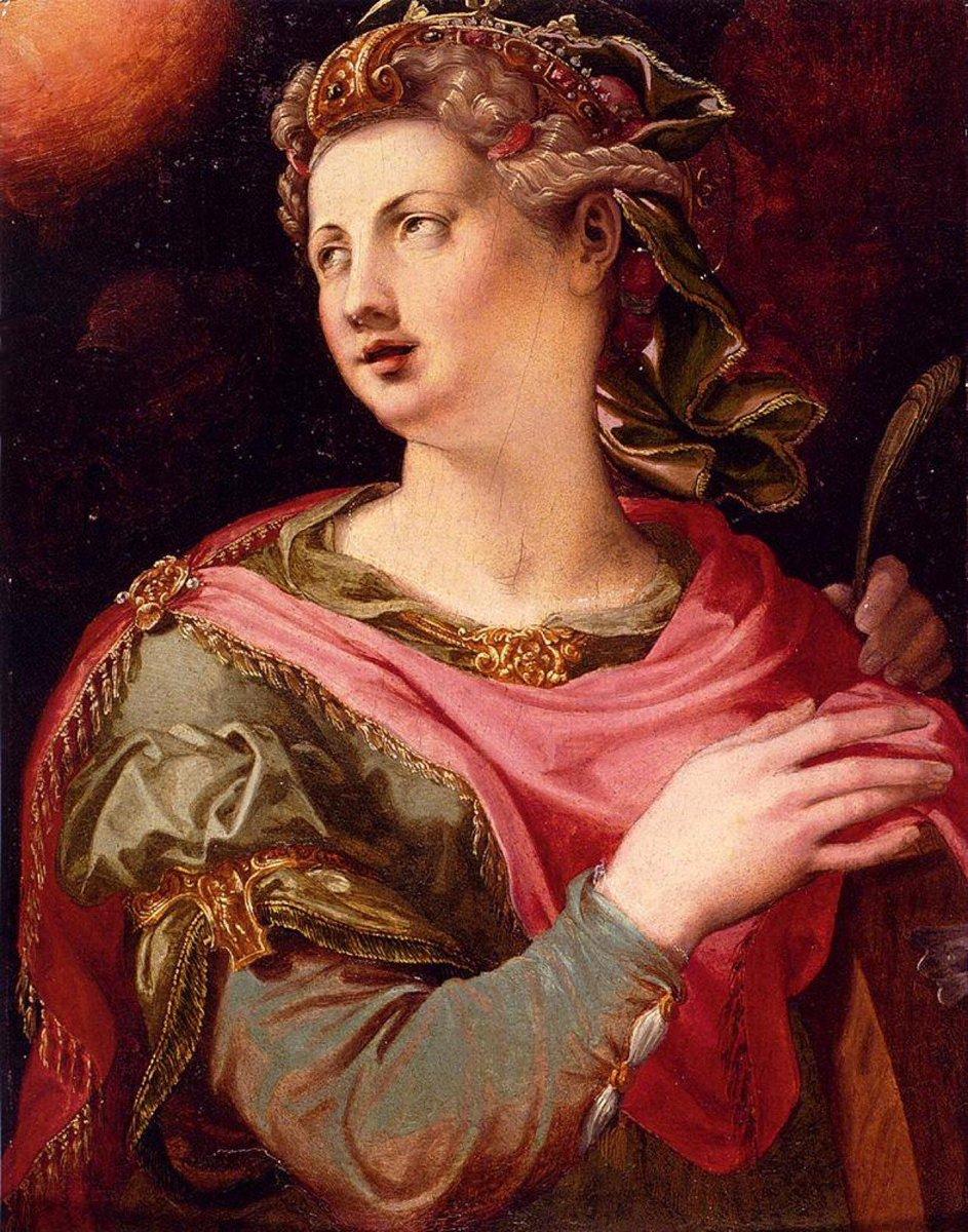 Today's her day - formerly Catterns Day - she was known for her skills in rhetoric 📷 @gjeni_u: Michele Tosini, 1503–1577, Italian, Saint Catherine Of Alexandria,  #wednesdaythought #WednesdayMotivation #WednesdayWisdom #art #History