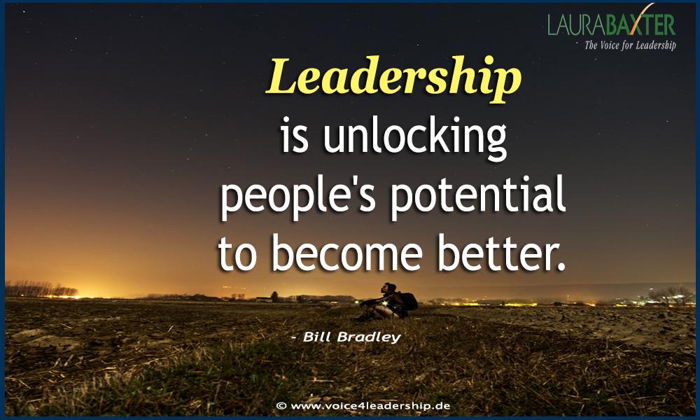 Leadership is unlocking people's potential to become better. - Bill Bradley #WednesdayWisdom #Leadership