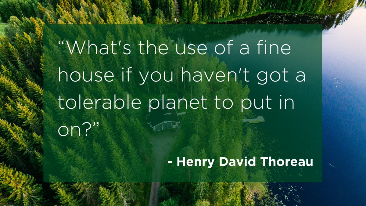 Today's #WednesdayWisdom comes from Henry David Thoreau, an American naturalist and philosopher. He is best known for his book, Walden, which reflects on his time living in semi-isolation on the shore of Walden Pond in eastern Massachusetts. #bethechange