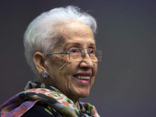 """This week's #WednesdayWisdom comes from Katherine Johnson, a pioneering NASA mathematician & one of our #Techspirations: """"I felt most proud of the success of the Apollo mission. They were going to the moon and I computed the path to get there."""" Read more:"""
