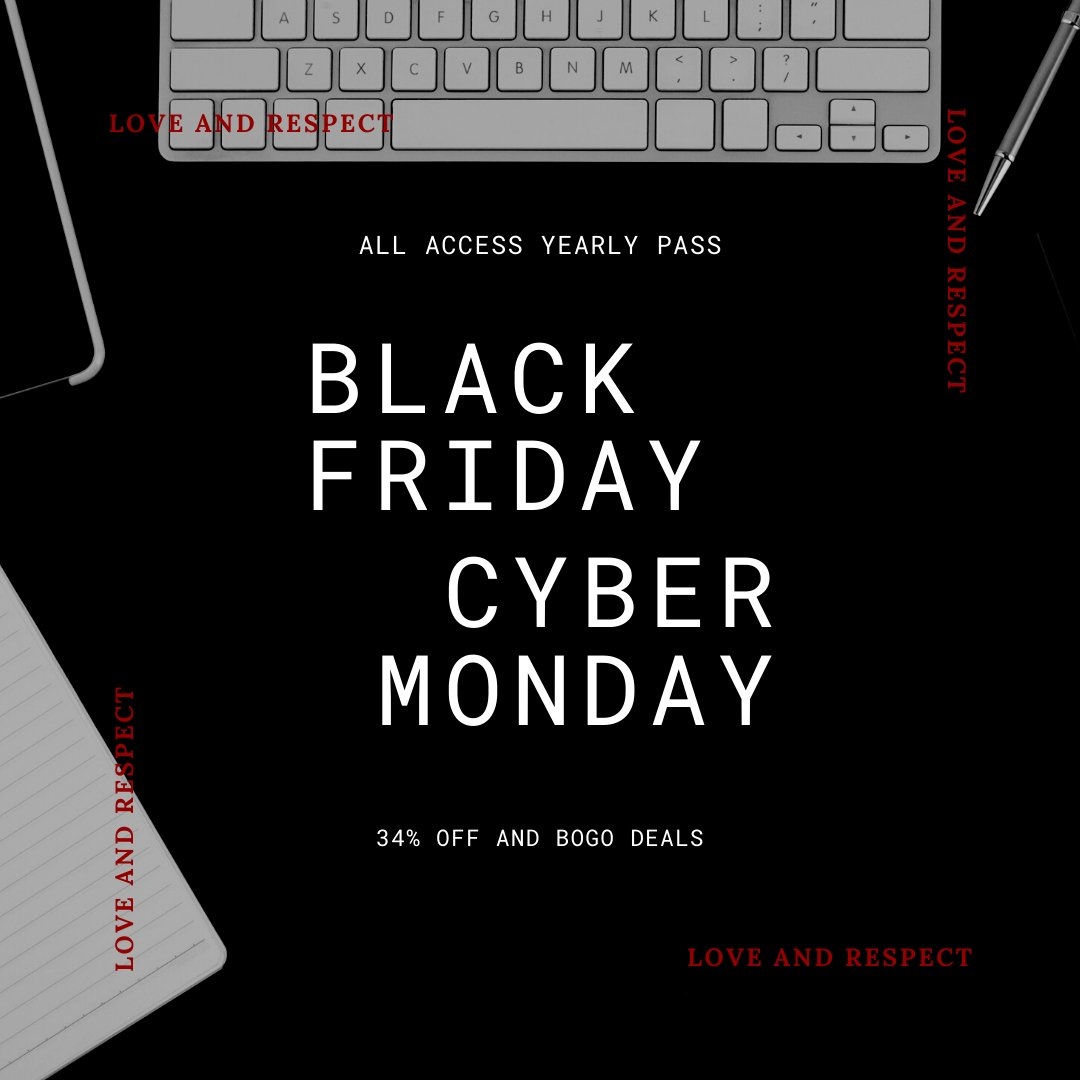 Our annual Black Friday / Cyber Monday deal starts now! You have 5 days to get the best price on the Love and Respect Academy All Access Pass.  Shop here: https://t.co/eyksSeYMk0  #christianbooks #christianmarriage #marriageministry #blackfriday2020 #cybermonday #loveandrespect https://t.co/KEFUHxMfy5
