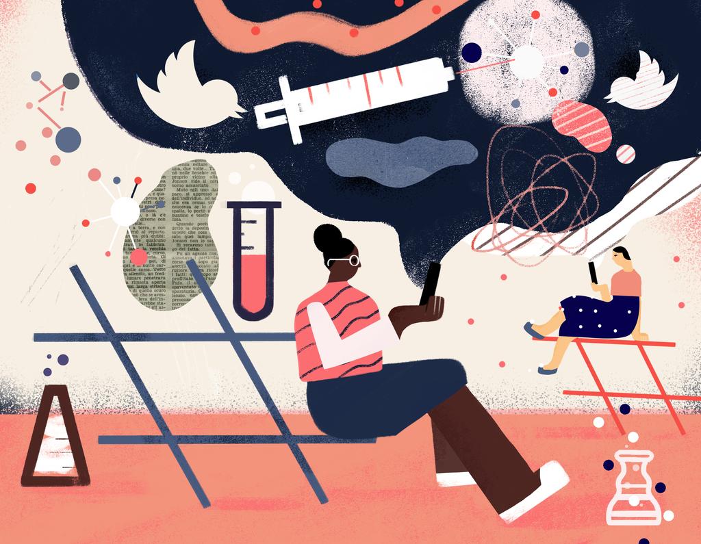 "Michela Buttignol (@michelabutti) Illustrator  illustrated a feature on ""Social Leveraging"" for Drexel University's Dornslife School of Public Health, running in the latest issue of their Dornslife Magazine.   #WednesdayWisdom #Illustration #Health"