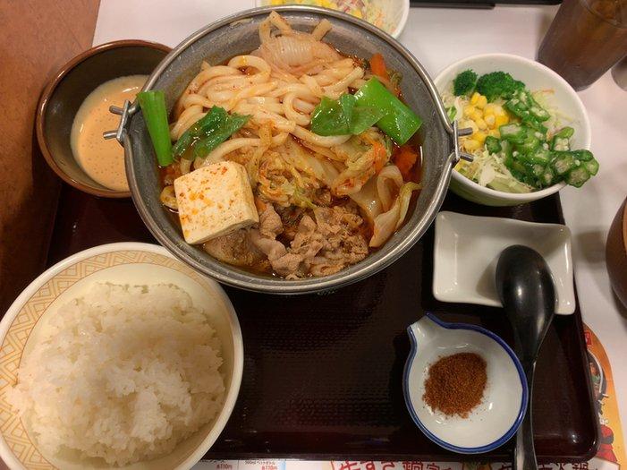 麻辣牛火鍋定食  #tabelog