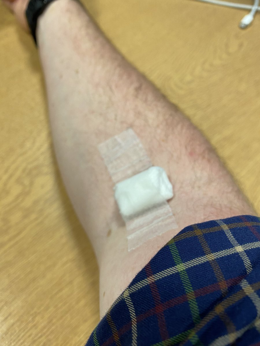 #COVID19 #OxfordVaccine 3-month follow up. Another round of bloods and more swab tests to take home to see me to my 6 month appointment. Still none the wiser on whether I'm in the control or test group. #VaccinesWork