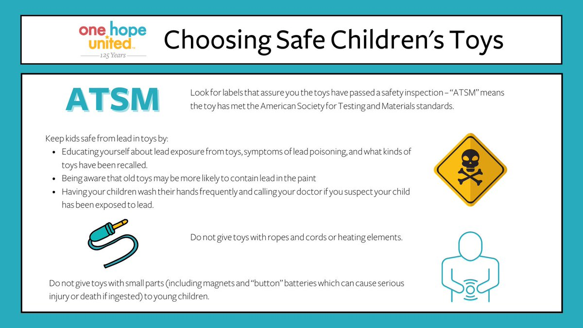 test Twitter Media - As we enter the holiday shopping season, it's important for parents to consider the right age range and safety precautions when buying toys for their kiddos. Here are our guidelines to make sure you choose safe toys for your children.  #OneHopeUnited #holiday #gifts #parenting https://t.co/qmagavvsLJ