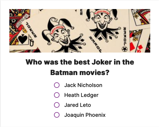 Who was the best #Joker in the #Batman movies? Give us your take in the NEON ID #questionoftheday. #quiz #movies #bestjoker #vote Join us at