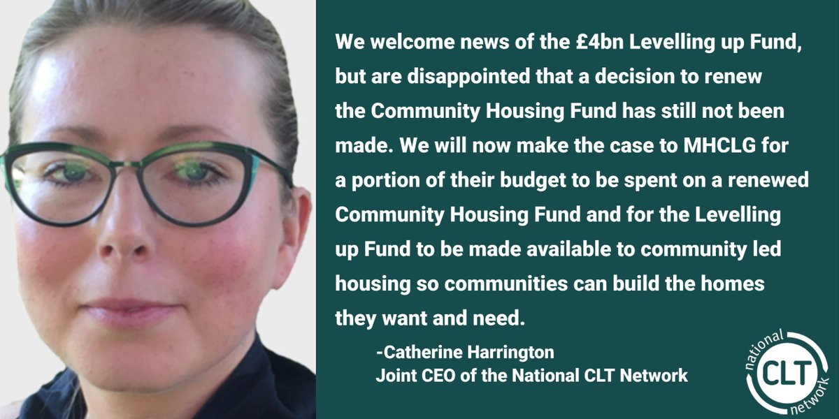 As it stands, over 10,000 community-led homes await funding, ready to be built in cities, towns and villages across England. The omission of the Community Housing Fund is a real disappointment. https://t.co/Hki6Zt7UFE