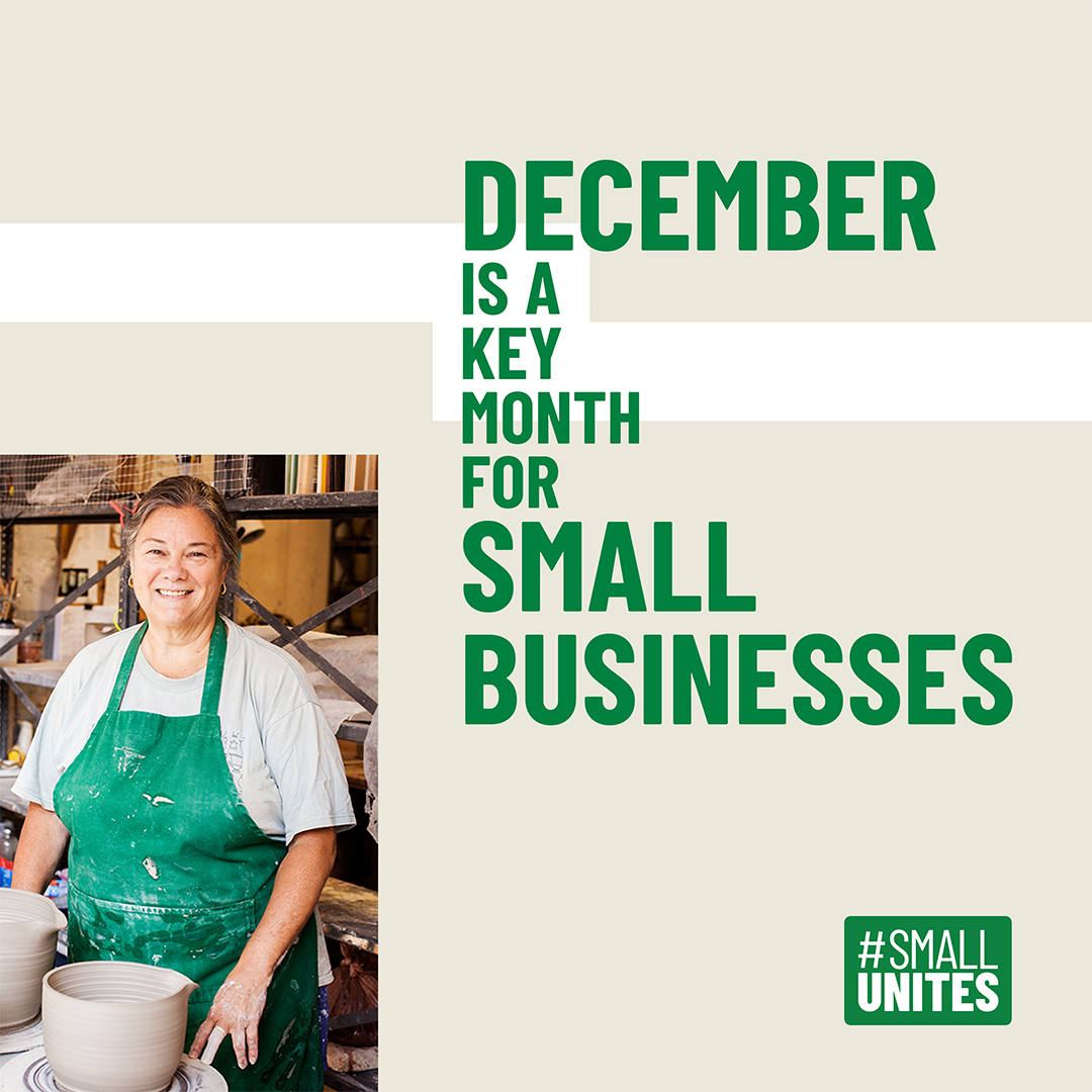 The holiday season is a big deal for small businesses. Show support for your favorites as you holiday shop. #SmallUnites 📸 : @UncommonGoods https://t.co/F7QnHgsBc4