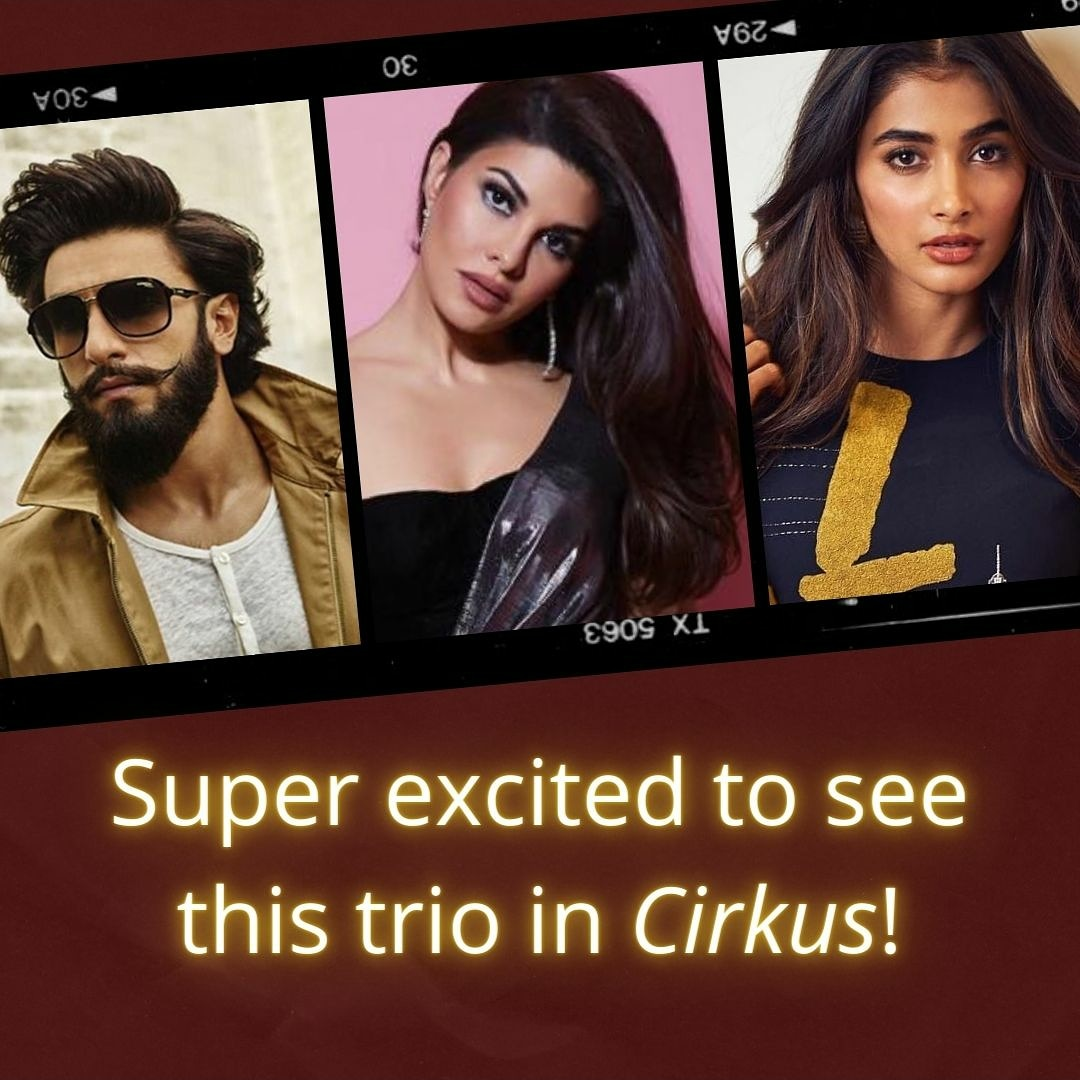 Eagerly waiting for this amazing trio 😍❤️ @Asli_Jacqueline #jacquelinefernandez #cirkus