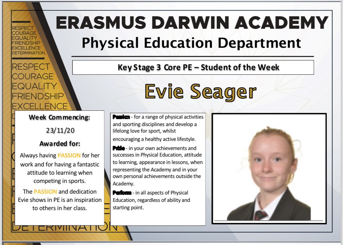 Well done Evie, maintain your passion and enthusiasm, they are fantastic qualities. We are very proud of you #weareEDA #ProudtobeEDA