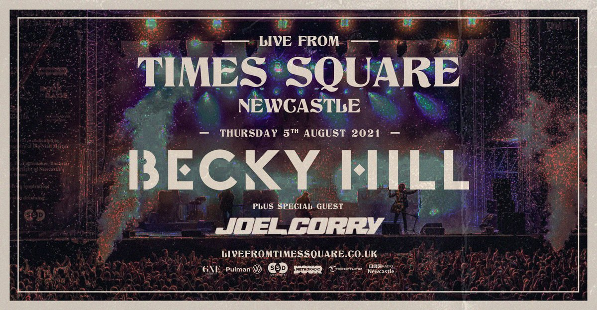 'Head & Heart' hitmaker @JoelCorry joins @BeckyHill as @SSDConcerts presents @livefromtimessq next August. Grab your tickets now >> https://t.co/KkGuaarUeM https://t.co/4NfnReEpF0