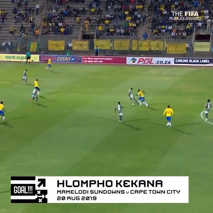 🏆Prix #Puskás😍  Chaque jour, on met en lumière l'un des 11 candidats.  Aujourd'hui : Hlompho Kekana 🇿🇦🚀  🗳️VOTEZ👉   #TheBest | #FIFAFootballAwards
