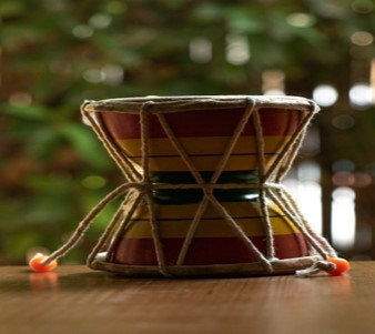 Toy Story of Uttarakhand  Damru (Large) is a unique, rustic toy and a miniature version of an Indian hand held drum. Wooden toy-making is a traditional craft of Uttarakhand, India. #Vocal4Local #AatmaNirbharBharat @incredibleindia @tourismgoi