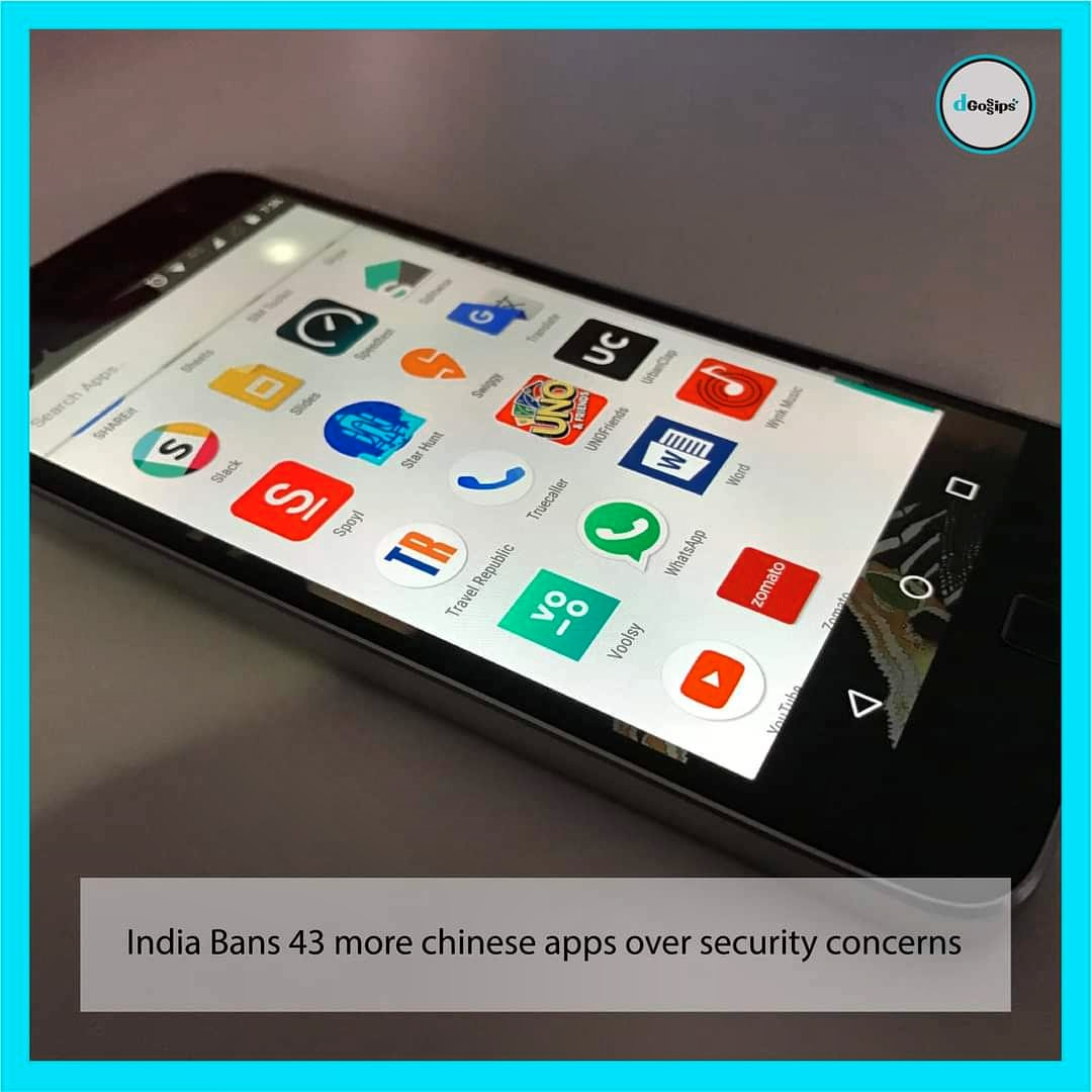 India Bans 43 more Chinese apps over security concerns.  #india #China #ban #ChineseAppsBan #Defence #IndianArmy #IndiaChinaFaceOff #IndiaChinaStandoff #IndiaChinaBorderTension #tiktok #PUBGMOBILE #ChineseApps