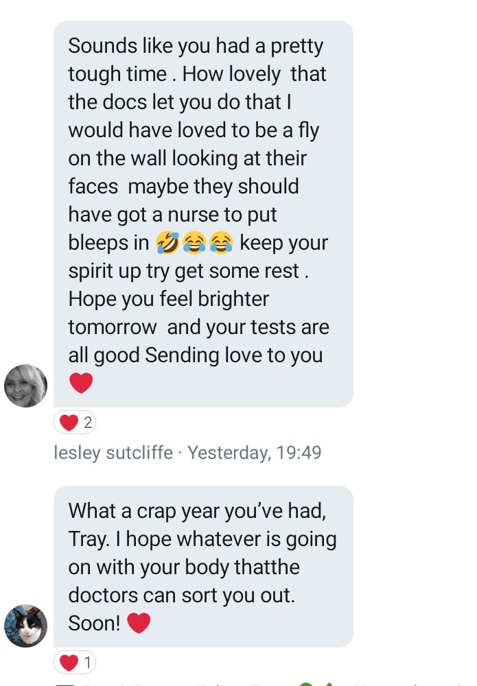@rickygervais #rickysbollocks #TalkingBollocks I'm Tray -( Susie Hope fur angel )you have the best fans in the world !❤ so many have reached out to me in hospital and I'm beyond grateful..any chance of a thank you to them all at 6pm ?🙏🏼❤kindness is magical
