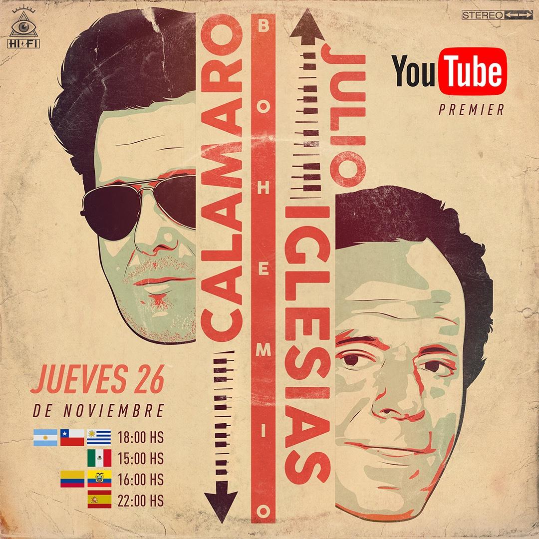 Mañana estreno mundial: Bohemio con @JulioIglesias !!! https://t.co/6yTqb8ziTt