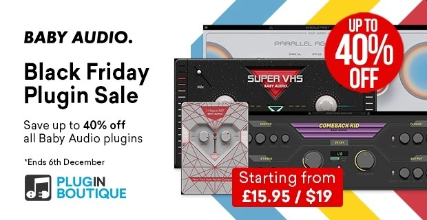 Baby Audio Black Friday Sale - up to 40% Off 🚀  https://t.co/YIWGWd3xHp   @PluginBoutique #plugindeals #pluginsales #DTM #DTMer https://t.co/pnJ5UvHu4o