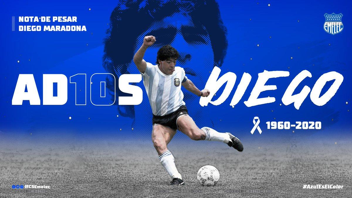 Se ha ido el genio del balón, que derrochó su magia única e irrepetible ✨ en las canchas del planeta. ¡Gracias por todo, Diego! Descansa en paz 🙏🏻⚽ #AD10S   #DelBombilloSoy #AzulEsElColor 🔵⚡️ https://t.co/QXNmWftQ0V