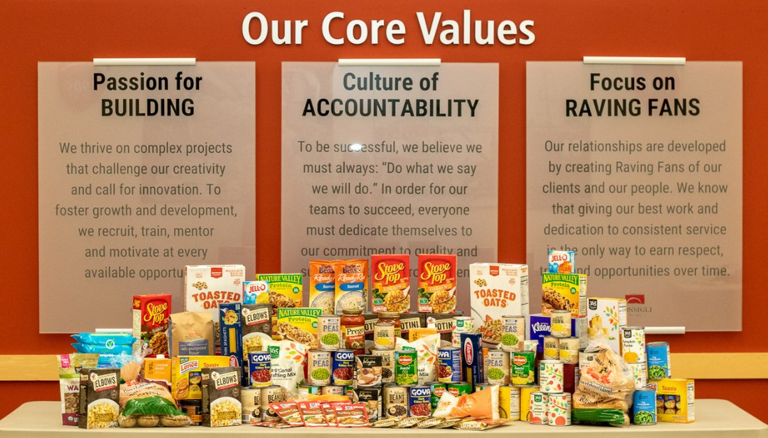 Consigli employees support annual #Thanksgiving food drives to help feed the hungry in our communities during the holidays. #seasonofgiving