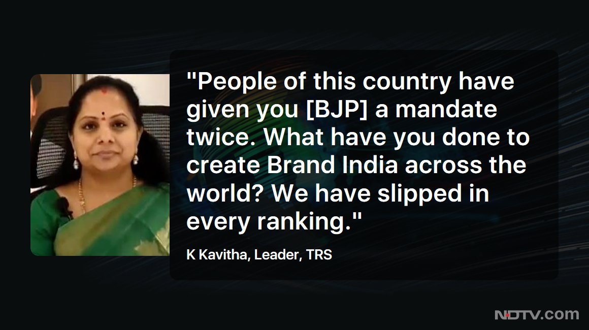 "#NDTVExclusive | ""Telangana is one of the most successful states in the country today"": K Kavitha, Leader, TRS"