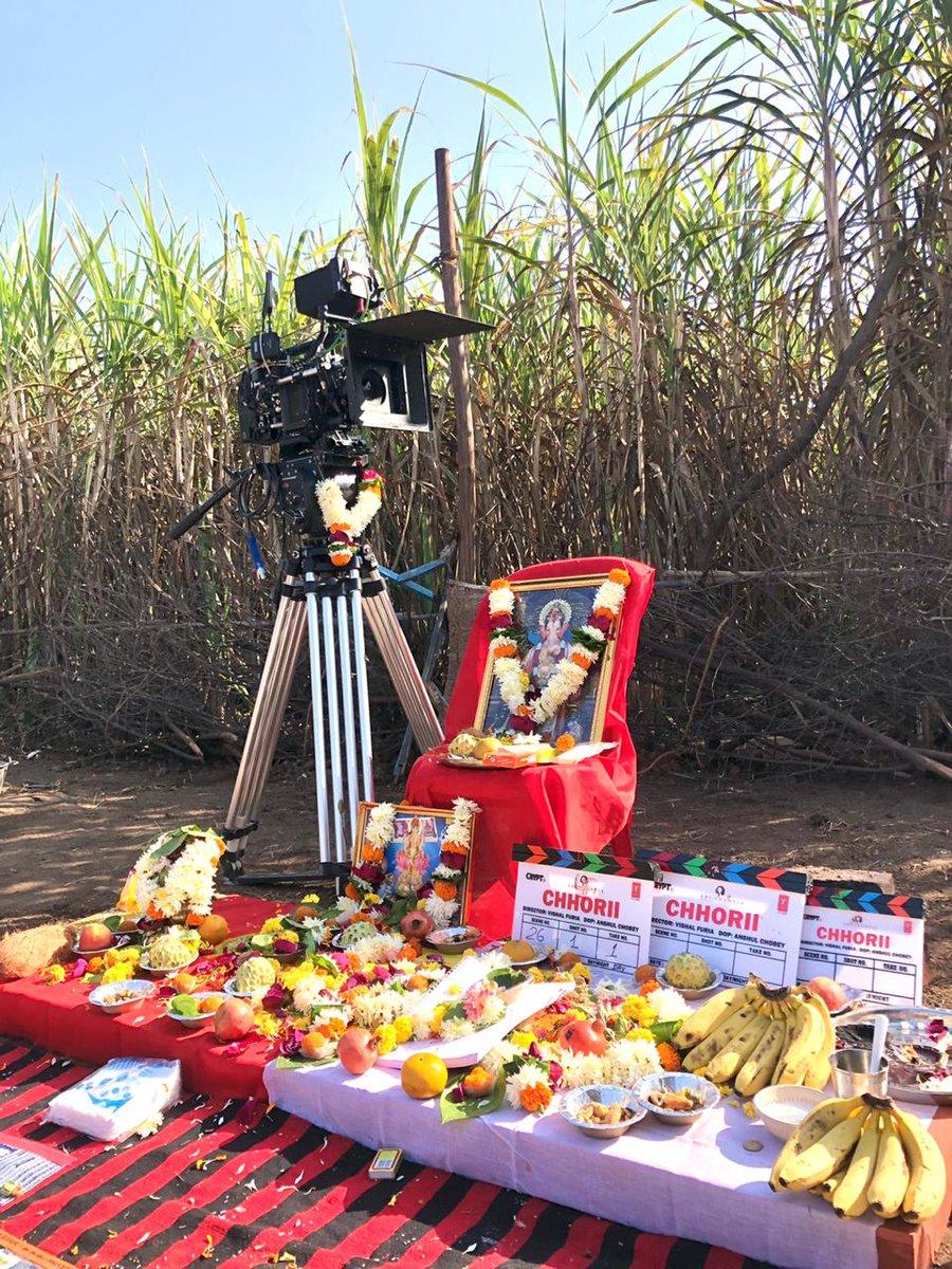 .@Abundantia_Ent's newest film kicks-off! #Chhorii commences filming. @Nushrratt @FuriaVishal @vikramix #BhushanKumar @NotJackDavis @ShikhaaSharma03 @CryptTV @TSeries