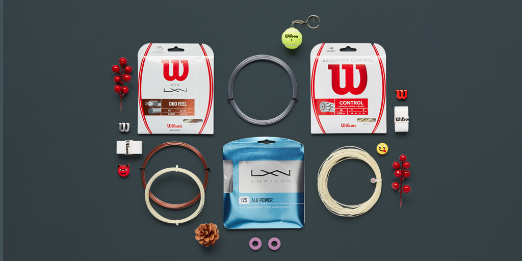 "Day 2 of our ""Deck The Courts"" holiday sale is here!   Get 30% off Luxilon, NXT and Sensation String Sets* at   *US Only - deal lasts through Dec 18th"