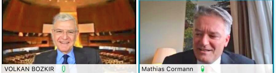 I had a videoconference with former Australian Finance Minister, Senator @MathiasCormann and nominee for the position of OECD Secretary General. #UNGA & @OECD share interests and responsibilities for international development issues, which are crucial for our #COVID19 recovery.